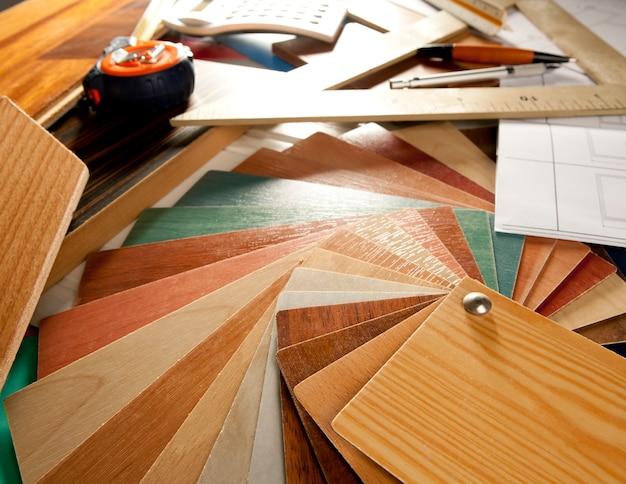Architect interior er workplace carpenter Premium Photo