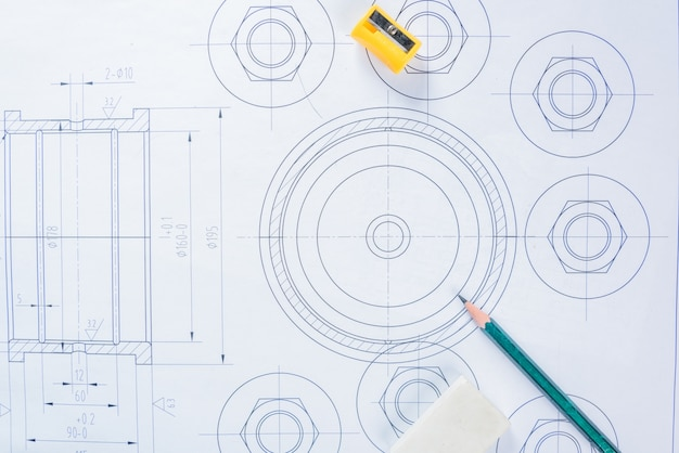 Architectural blueprints. Free Photo