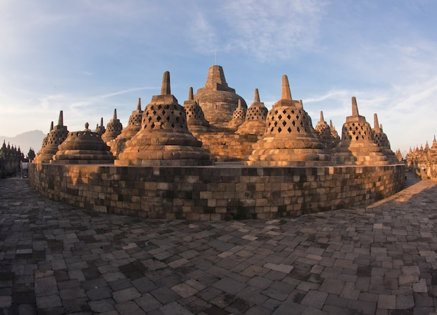 Architecture borobudur temple Premium Photo
