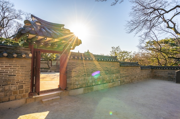 Architecture building changdeokgung palace in seoul city Free Photo