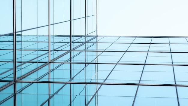 Architecture of geometry at glass window Premium Photo