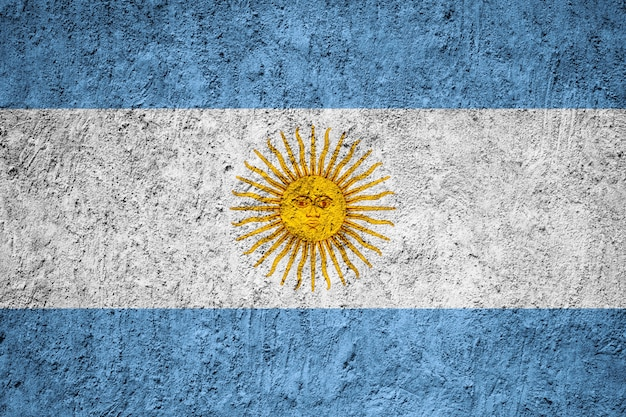 Argentina flag painted on grunge wall Premium Photo