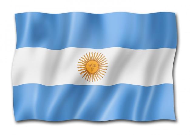 Изолированный аргентинский флаг Premium Фотографии