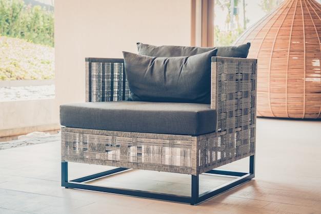 Armchair with a cushion Free Photo