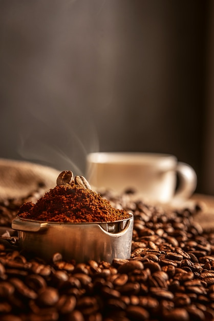 Aromatic morning coffee Premium Photo