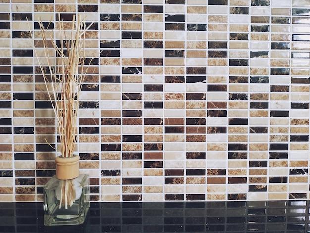 Aromatic reed air freshener, home interior background Premium Photo
