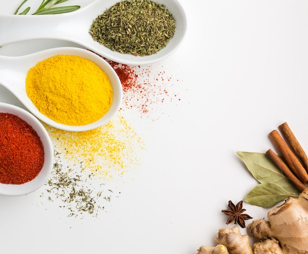 Aromatic seasoning powder spices Free Photo