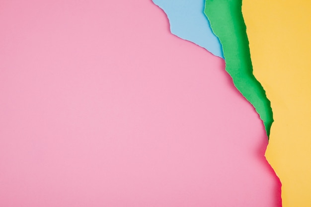 Arrangement of colorful pieces of paper Free Photo
