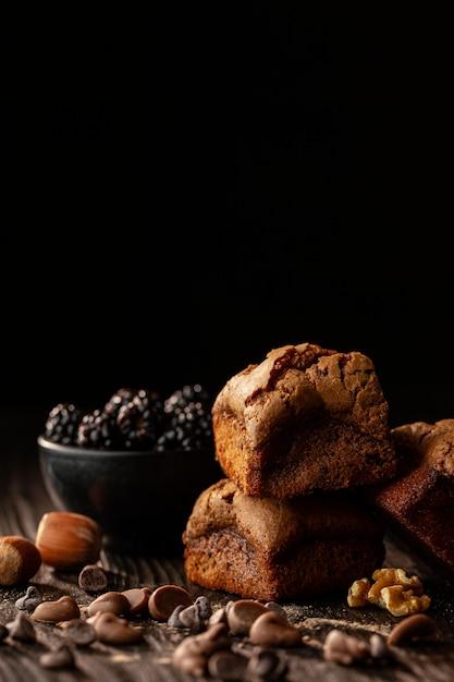 Disposizione di deliziose torte dolci Foto Gratuite