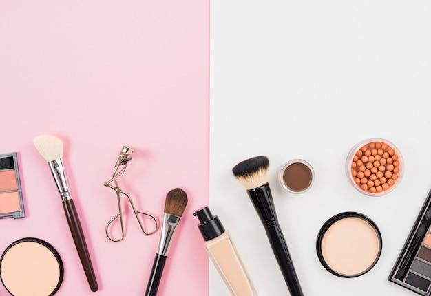 Arrangement of facial makeup product Free Photo