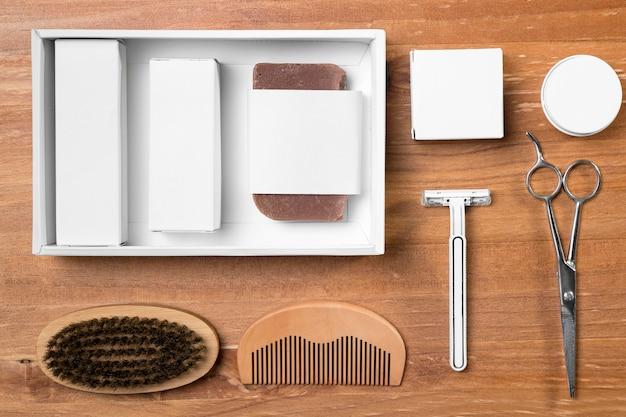 Расположение инструментов для ухода за парикмахерской Бесплатные Фотографии
