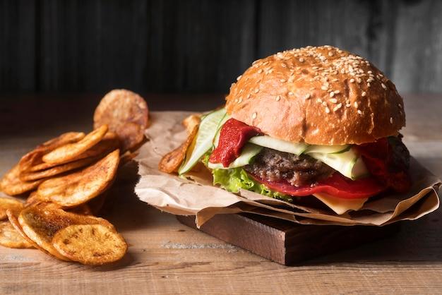 美味しいハンバーガーのアレンジ 無料写真