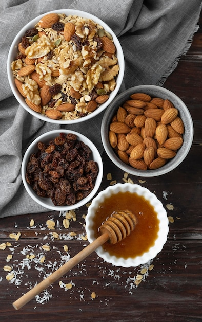 Расстановка вкусных ингредиентов на кухне Бесплатные Фотографии