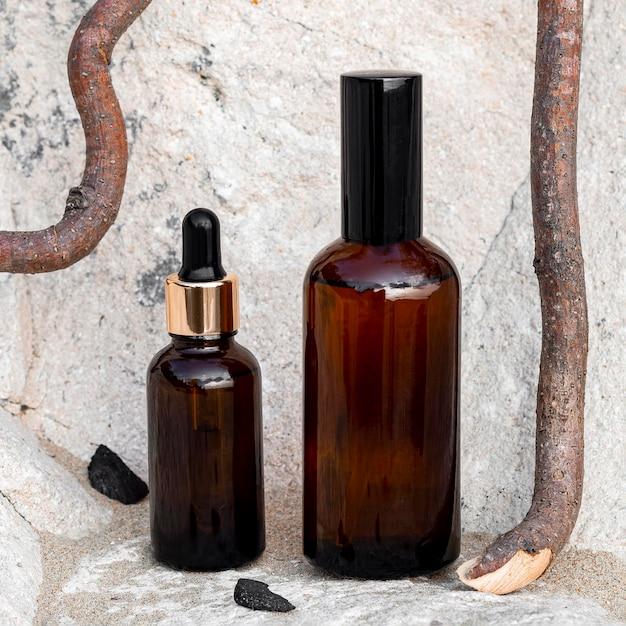 피부 미용 제품 배열 무료 사진
