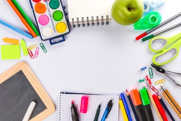 Arrangement of school materials Free Photo