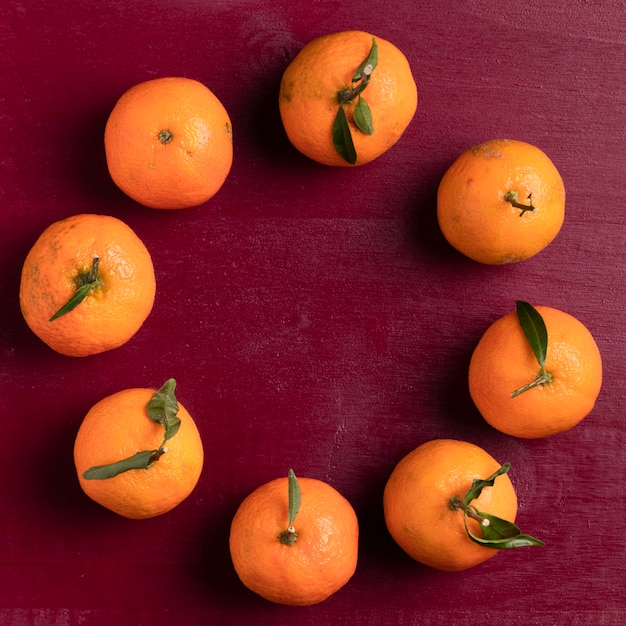 Arrangement of tangerines for chinese new year Free Photo
