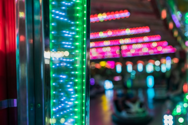Arrangement with colorful lights at carnival Free Photo