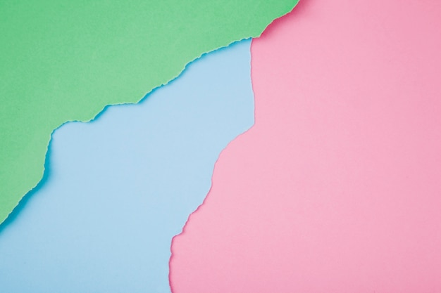 Array of colorful ripped papers Free Photo