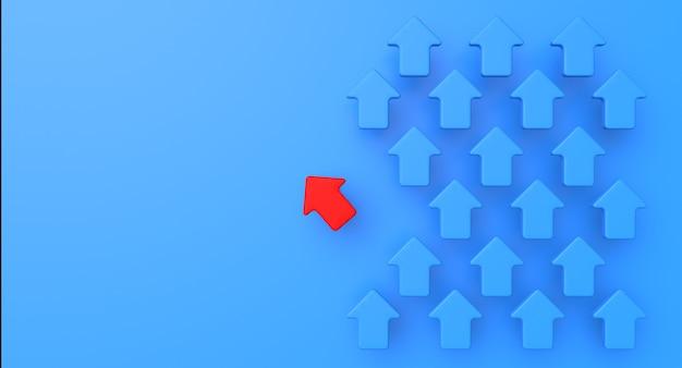 アロービジネスと成功のコンセプト。達成の抽象的なイラスト。 3dレンダリング Premium写真