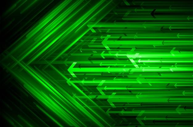 Arrow, green light abstract technology background Premium Photo