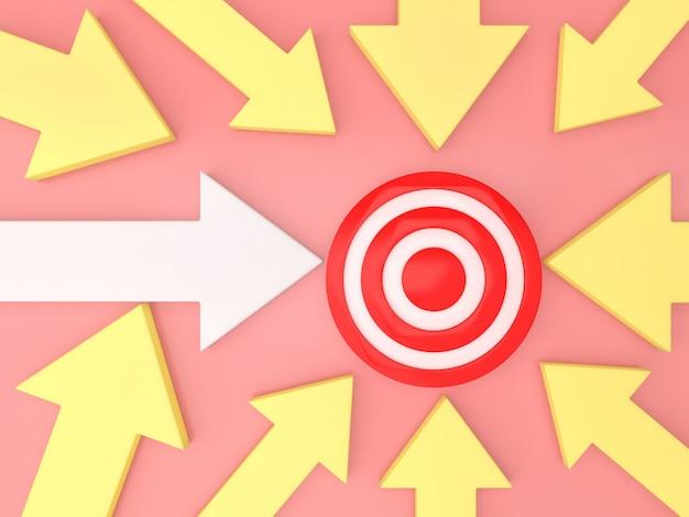 Arrows background direction goal  traget business template pastel idea Premium Photo