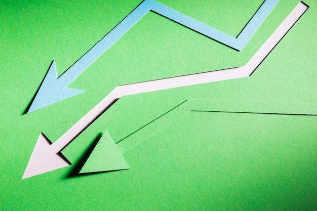 Frecce che inidivano la crisi economica Foto Gratuite