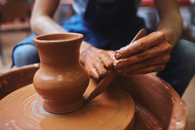 Art of pottery Free Photo