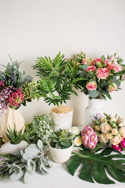 home decor silk floral arrangement floral decor tropical.htm artificial flowers on a white background  home decor premium photo  white background  home decor