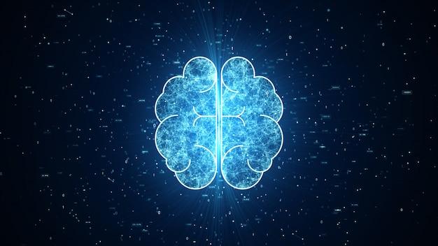 Artificial intelligence brain animation Premium Photo