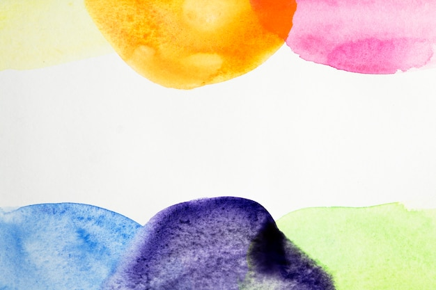 Artistic background of colorful watercolor texture Free Photo