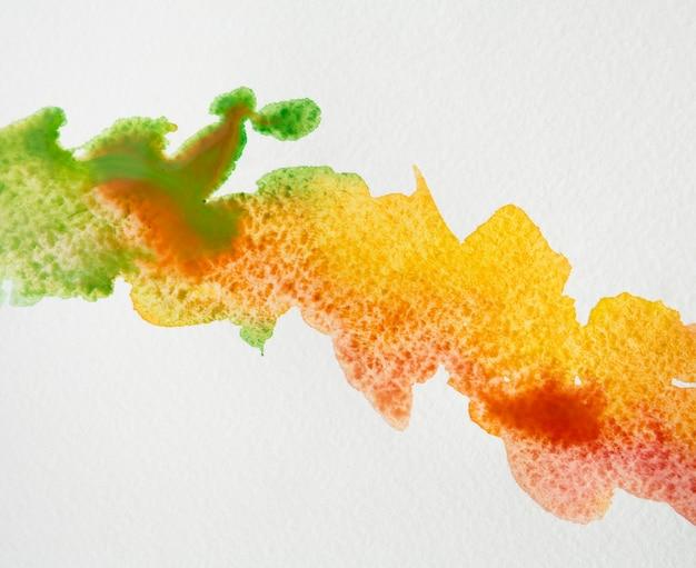 Artistic colorful watercolor brush strokes Free Photo