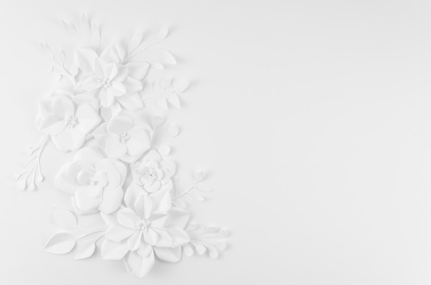 Artistic floral frame with white background Free Photo