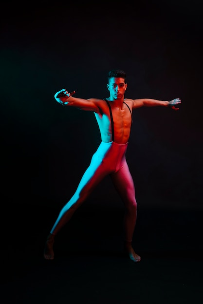 Artistic male in tights dancing Free Photo