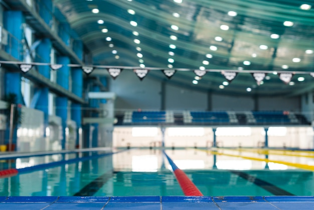 Artistic photo of modern swimming pool Free Photo