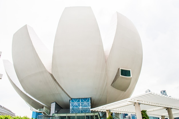 Музей artscience в marina bay sands Premium Фотографии