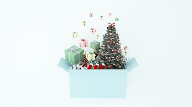 Artwork christmas 3d rendering Premium Photo