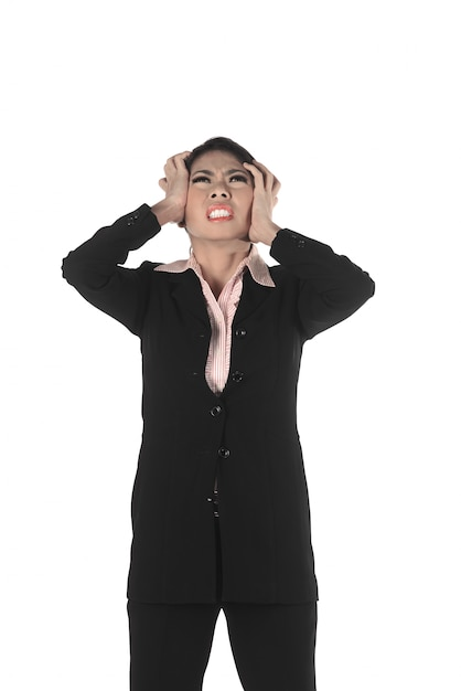 Asian business man with shocking face Premium Photo