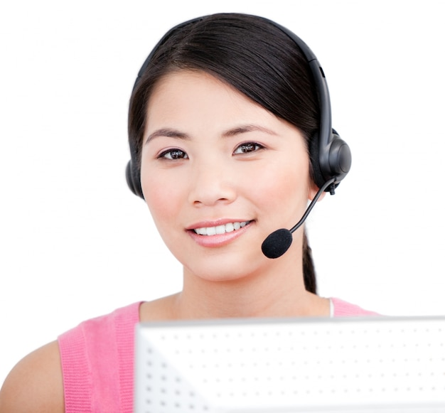 Asian customer service representative Premium Photo