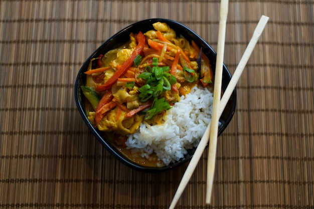 Asian food in a restaurant Free Photo