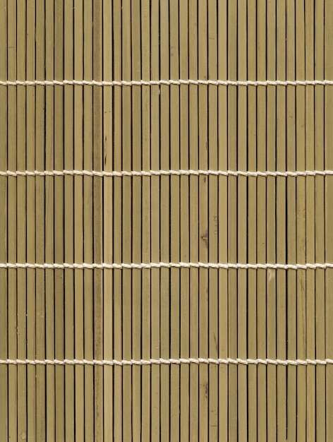 アジアの光竹マットテクスチャ背景 Premium写真