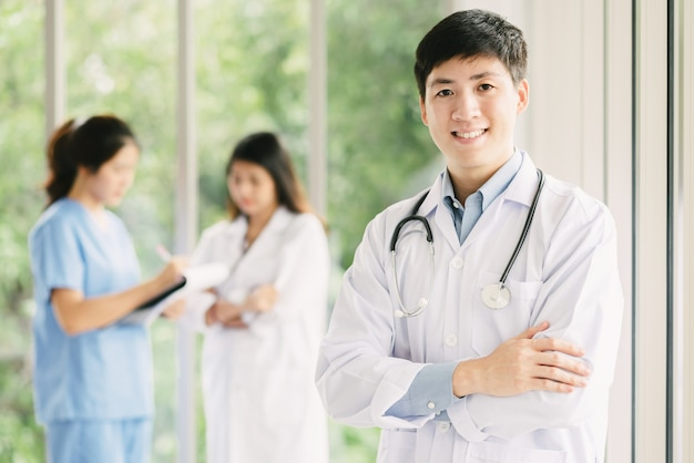 You Asian male doctor