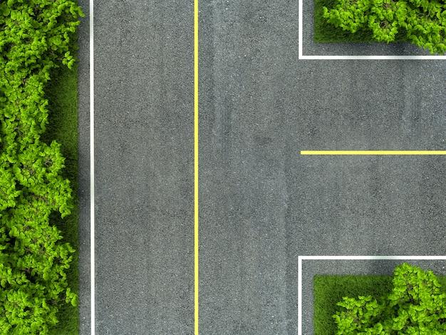 Asphalt road texture,yellow and white line on road Premium Photo
