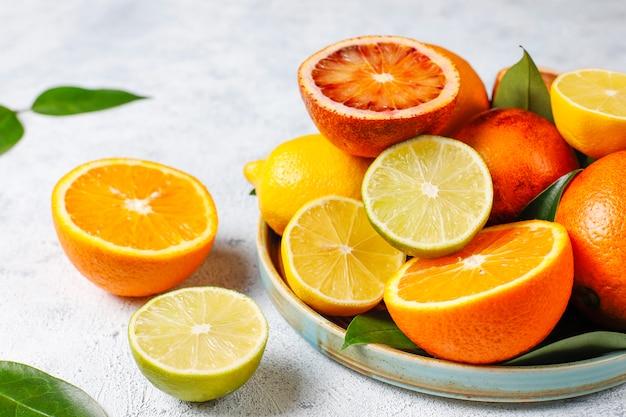 Assorted fresh-citrus fruits Free Photo