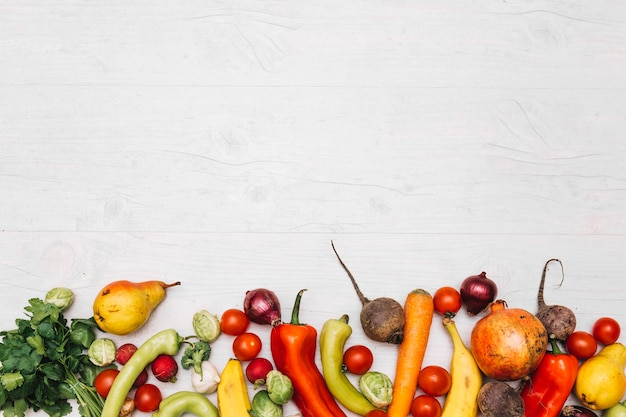 Assorted fruits and vegetables Free Photo