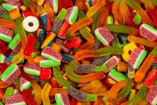 Ассорти из мармеладных конфет. Premium Фотографии