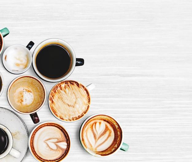 Ассорти из нескольких кофейных чашек Бесплатные Фотографии
