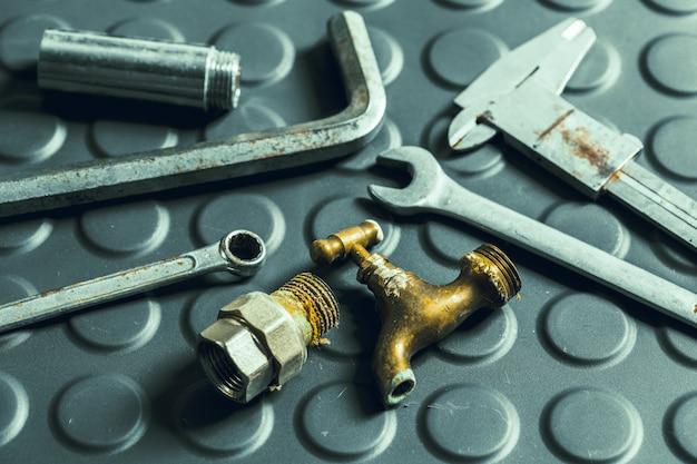 Assorted work tools Premium Photo