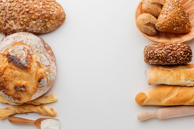 Assortment of baked pastry Free Photo