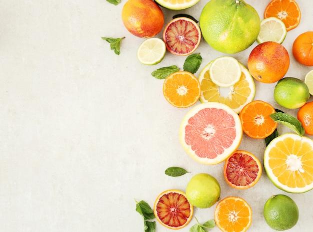 Assortment of citrus fruits Free Photo