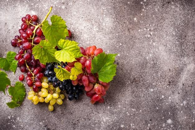 Assortment of different sort of grapes Premium Photo